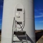 Puerta de entrada a un molino de viento