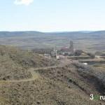 Vista de Aguilar del Alfambra bajando desde la Ermita