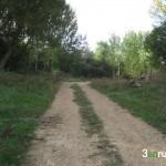 Inicio de la pista al salir de Villalba Alta