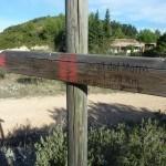Indicador al Alta del Morro, aquí empiza la senda más dura de la ruta