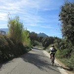 Desde Gaianes volveremos hasta muro por la via verde asfaltada