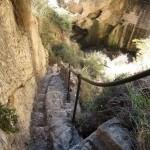 Escaleras de la presa