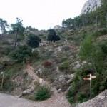 Final de la senda de bajada desde la cima