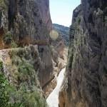 Las paredes del cañon tienen cerca de 500 metros de altura