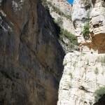 El camino de herradura del Congost del Mont-Rebei
