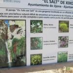 Cartel informativo del Salt de Xixona