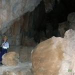 Inicio de la subida a la segunda sala de la cueva