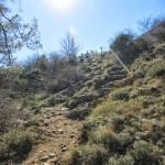 Inicio de la bajada desde el Refugio de Montcabrer