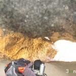 Vista de la entrada de la Cova de la Dona desde el interior