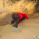 En este pequeño túnel se encontraron cerámicas de los íberos
