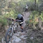 En algún tramo es necesario empujar la bici