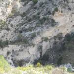 Vista del camino sobre el barranco (acueducto y camino estrecho)