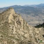 Vista del collado desde la cumbre