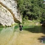 Cruzando el rio Alcanadre