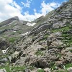 Vista de la bajada del Valle de los Sarrios