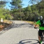 Iremos un tramo por carretera hasta la señal de cambio de provincia a Valencia