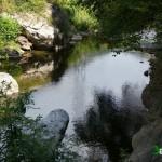 Vista del rio junto al que pedaleamos