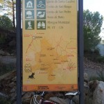 Cartel de Olba junto al cementerio