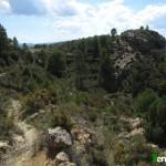 Senda de descenso desde el Collado de los Santos hacia Fuentes de Rubielos
