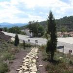 Llegada a Fuentes de Rubielos tras bajar del Collado de los Santos