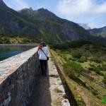 Muro de la represa del Lago