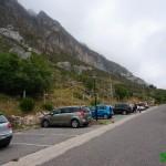 Parking donde iniciamos la ruta