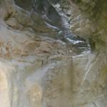 Escaleras en final de Cova Santa