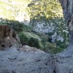 Vista del barranco desde la cueva
