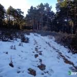 Al inicio de la ruta ya encontramos restos de nieve