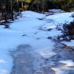 Debemos tener cuidado con el hielo del camino