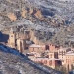 Vistas de Albarracín desde el camino de bajada