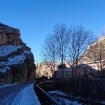 Entrada a Albarracín helada