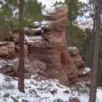 Formas esculpidas en la arenisca