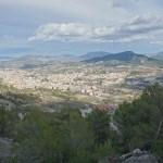El Castellar, vista de Alcoy y la Serreta