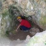 Pasillo a la segunda entrada a la Cova de les Pedres Boniquess