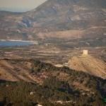 Castillo de Cocentaina y pantano de Beniarres