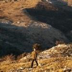 Bajando del Collado d'en Sabata con el Montcabrer al fondo