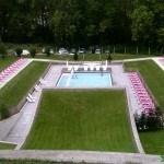 Vista de la piscina desde el mirador del Aquaxana