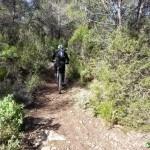 Inicio del descenso desde el Alt del Palomaret