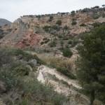 Escaleras que hemos subido tras el paso de Olinches