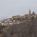 Vista de Chelva desde las Cuevas del Montecico