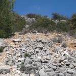 Pedregal hacia la Cova de la Dona - Turballos
