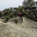 Bajada por la roca del Caminet de les Cabres