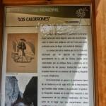 """Panel informativo sobre los """"Calderones"""""""