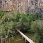 Puente a la zona de escalada (no hay que cruzarlo)
