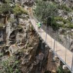 Cruzando el puente al volver
