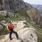 Iniciando descenso al lado del Morro de l'Aspre - Bernia