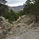 Inicio de la senda de descenso hacia el río Alcalá