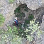 Subiendo a la Cova de l'aigua