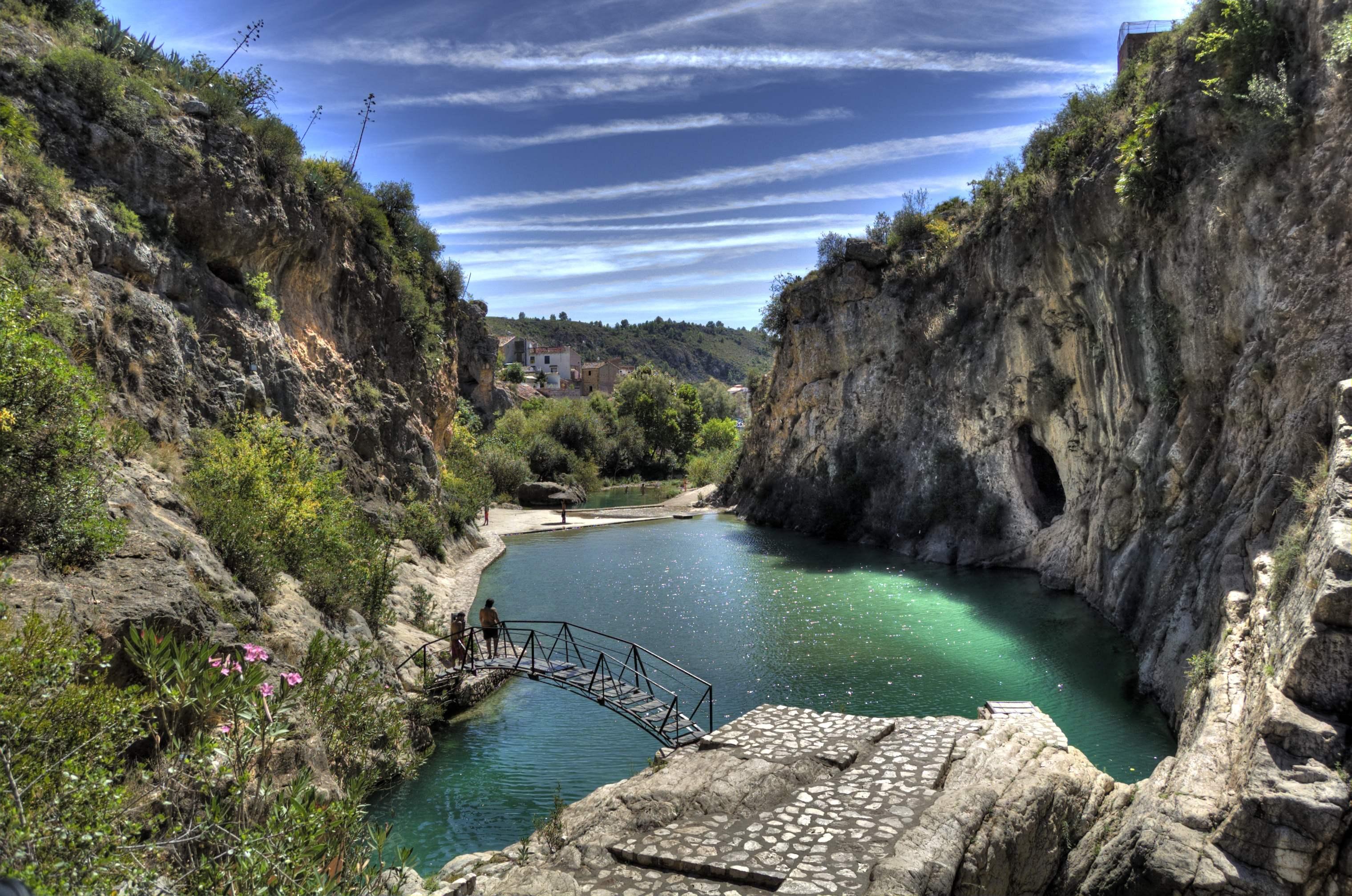 Piscinas naturales de la comunidad valenciana for Albercas naturales